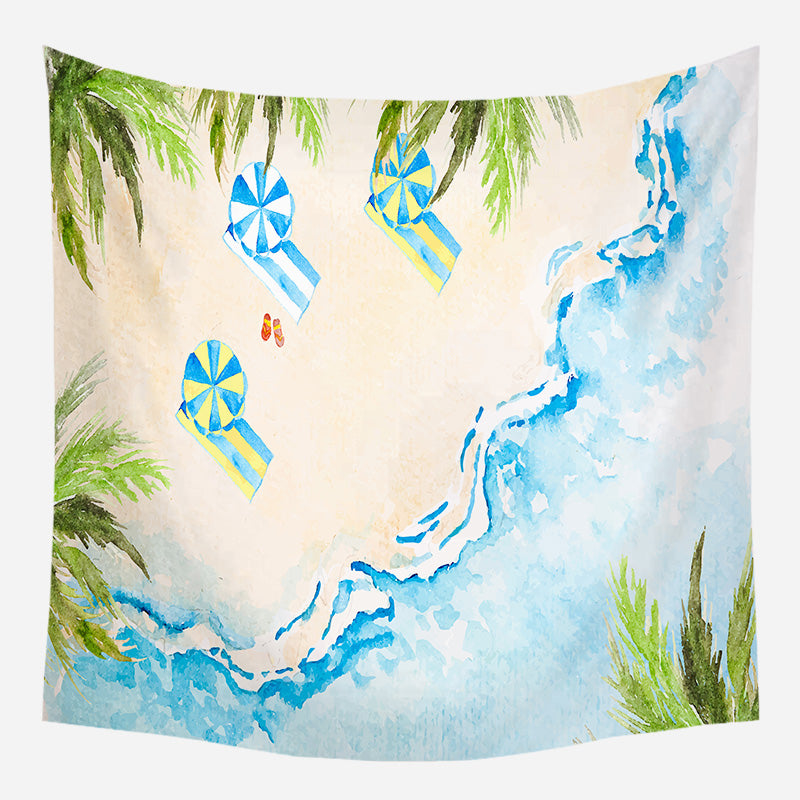 Beach Day Out Tapestry Wall Hanging Tapis Cloth