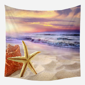 Sunshine Starfish Tapestry Wall Hanging Tapis Cloth