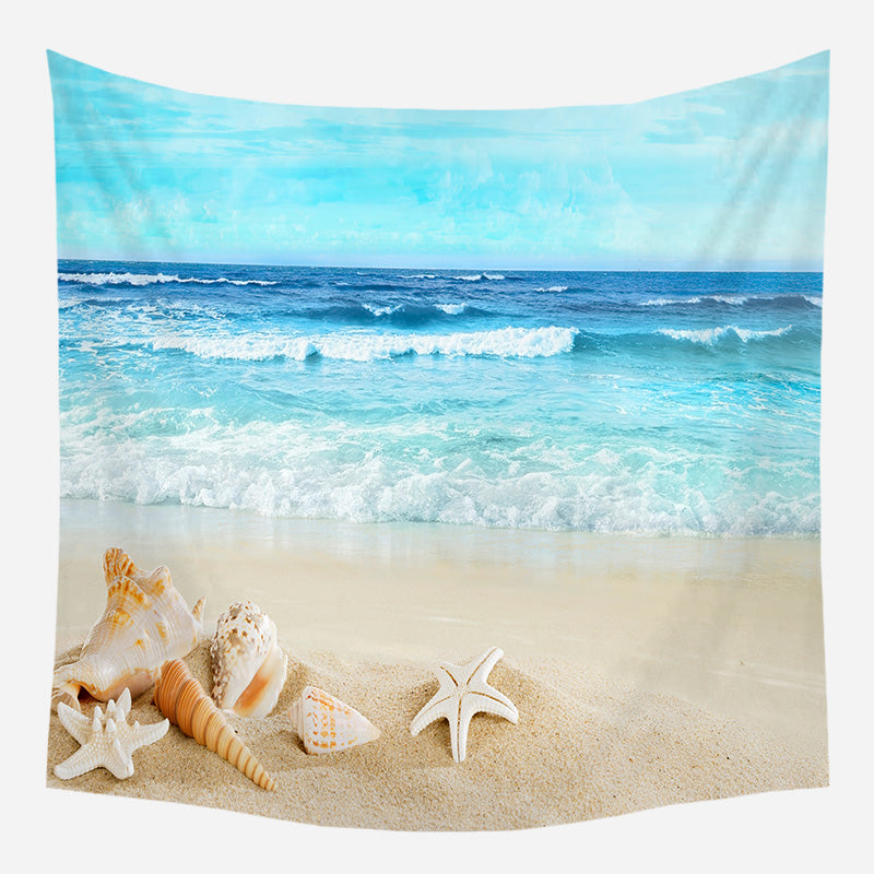 Seashells At The Sea Shore Tapestry