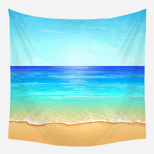 Blue Sky & Sea Tapestry Wall Hanging Tapis Cloth