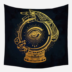 Gypsy's Hand On Ball Tapestry Wall Hanging Tapis Cloth