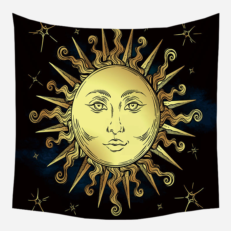 Beautiful Sun Tapestry Wall Hanging Tapis Cloth