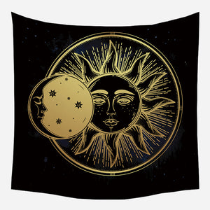 Eclipse Of Sun Tapestry Wall Hanging Tapis Cloth