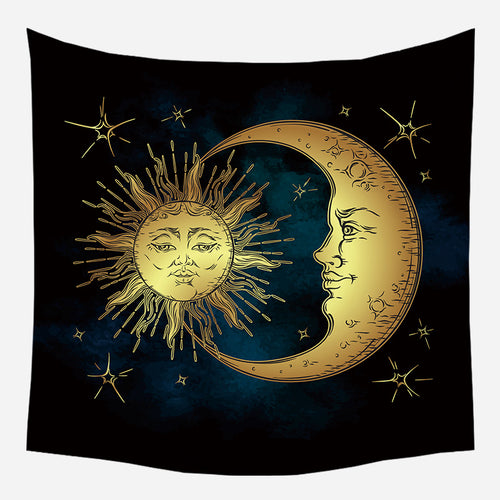 Moon On Sun Tapestry Wall Hanging Tapis Cloth