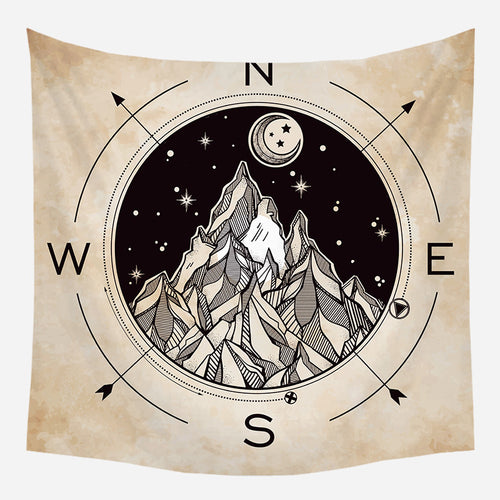 Mountain Adventure Tapestry Wall Hanging Tapis Cloth