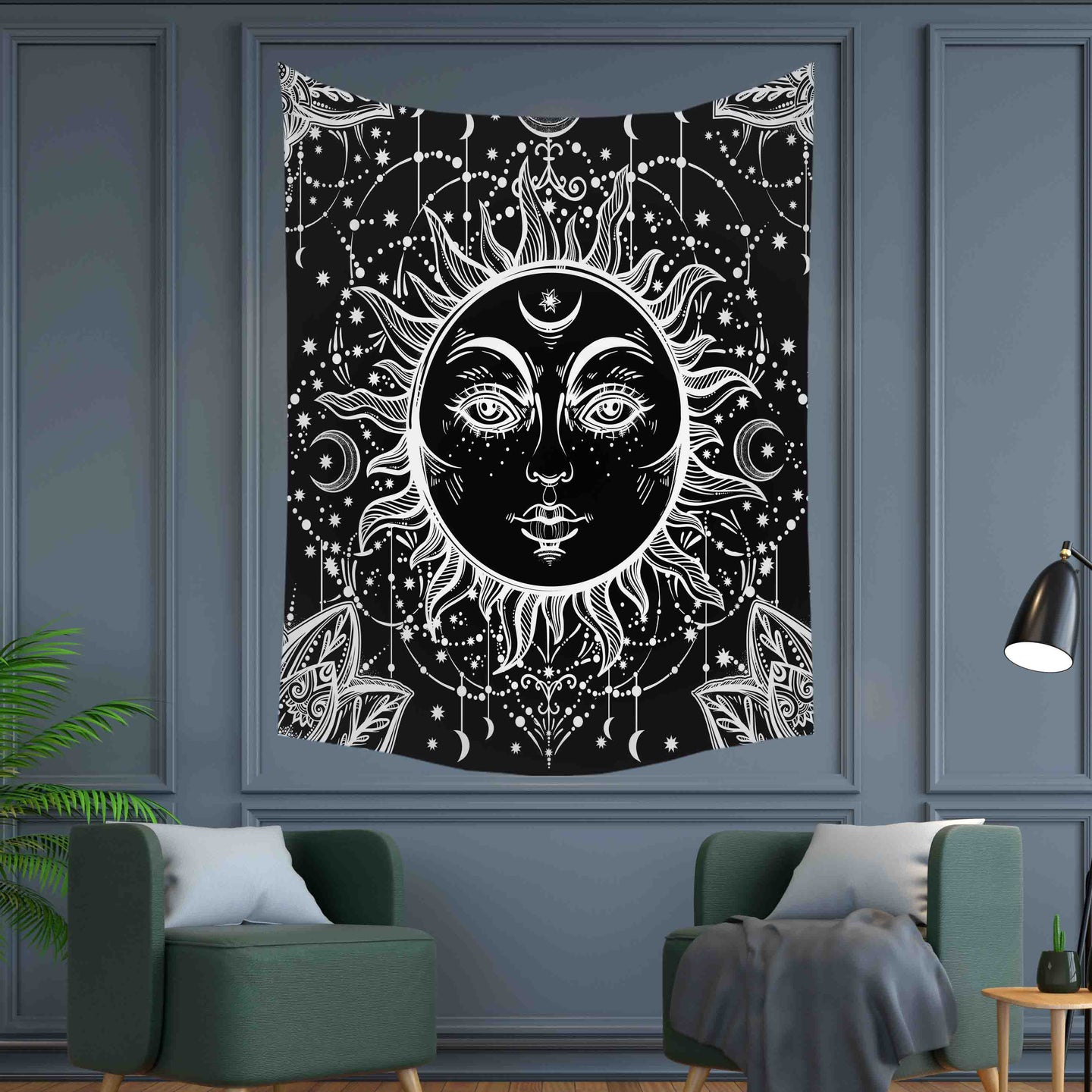 Dark Side of The Sun Tapestry Wall Hanging Tapis Cloth