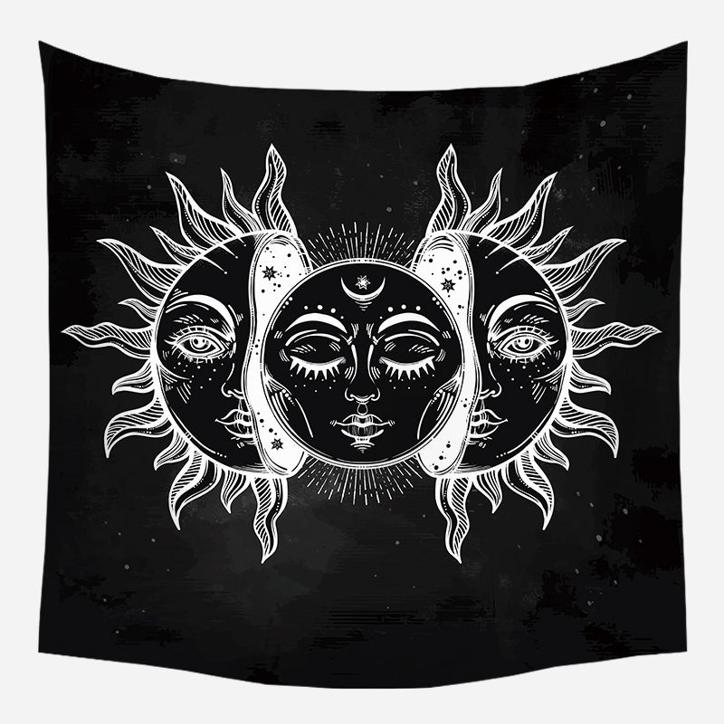 Sun Moon Crescent Tapestry