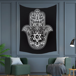 Illuminati Star Hand Tapestry Wall Hanging Tapis Cloth