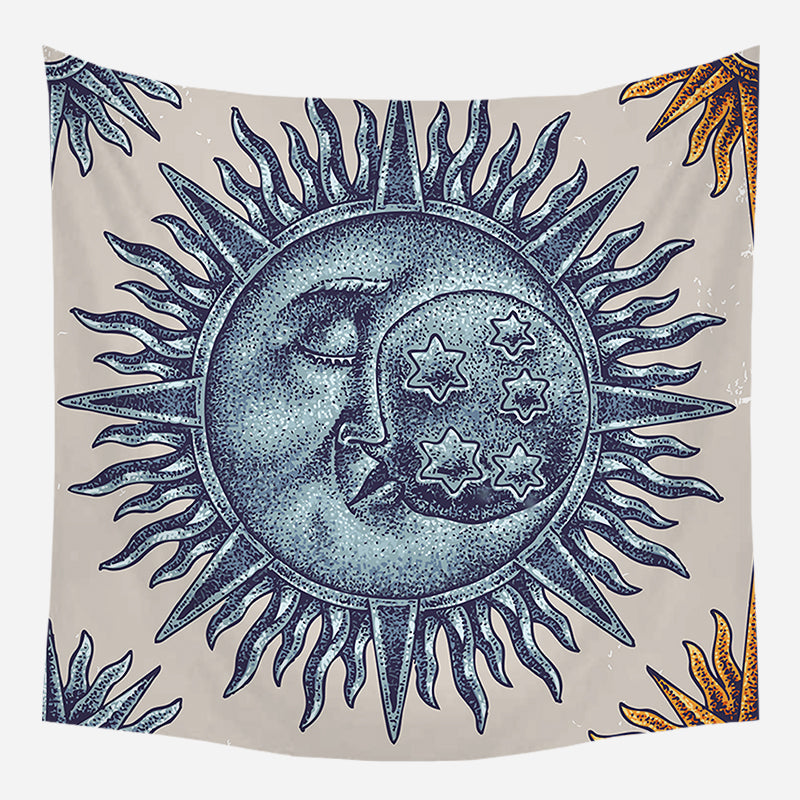 Ancient Sleeping Moon Symbol Tapestry Wall Hanging Cloth