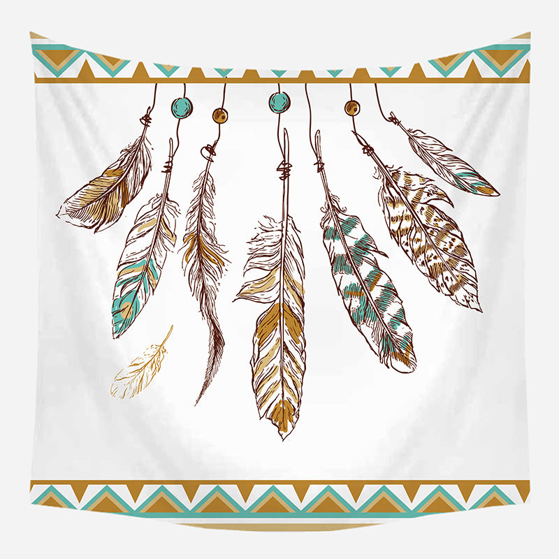 Boho Leaves Tapestry Wall Hanging Tapis Cloth