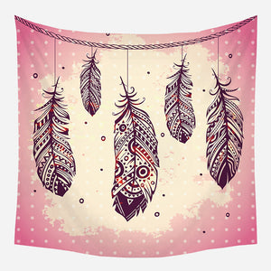 Original Pink Boho Design Tapestry Wall Hanging Tapis Cloth