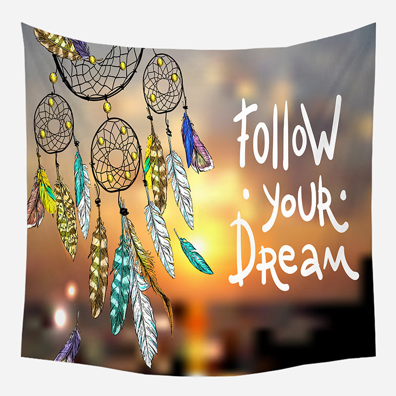 Colorful Dream Catcher Tapestry Wall Hanging Tapis Cloth