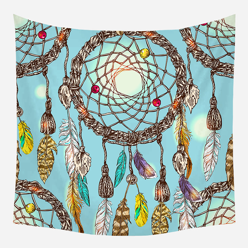 Blue Dream Catcher Tapestry Wall Hanging Tapis Cloth