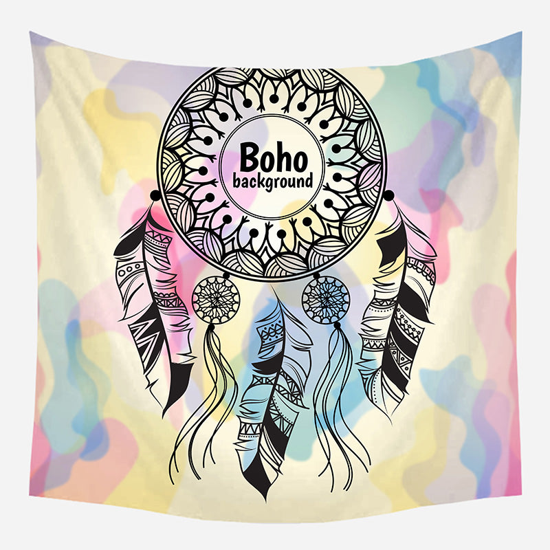Boho Background Tapestry Wall Hanging Tapis Cloth