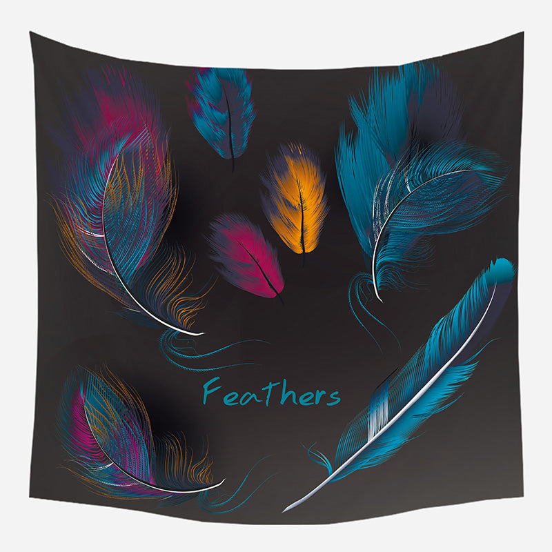 Feathers Tapestry Wall Hanging Tapis Cloth