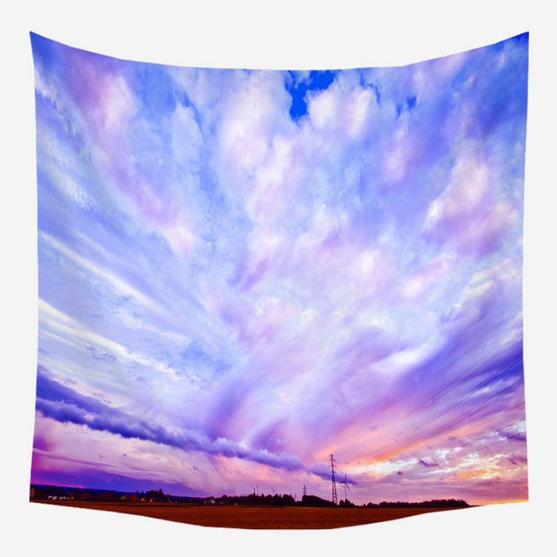 Purple Sky Tapestry Wall Hanging Tapis Cloth