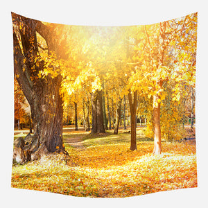 Original Yellow Leaves Tapestry