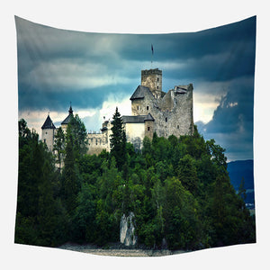 Castle Tapestry Wall Hanging Tapis Cloth