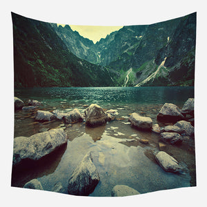 Lake Mountain Tapestry Wall Hanging Tapis Cloth