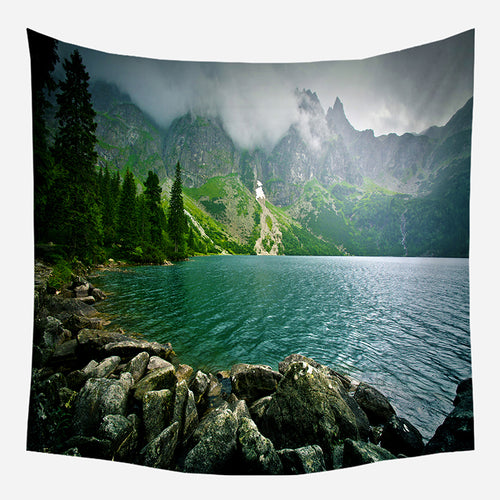 Original Mountain River Tapestry Wall Hanging Tapis Cloth