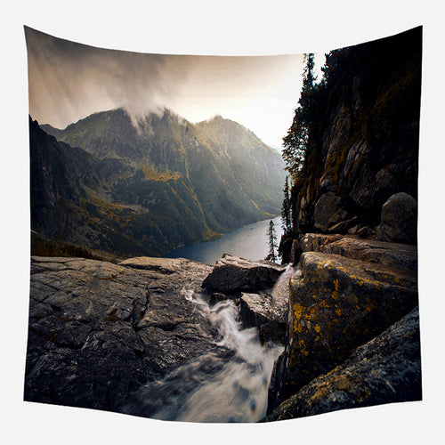 Original Mountain View Tapestry Wall Hanging Tapis Cloth