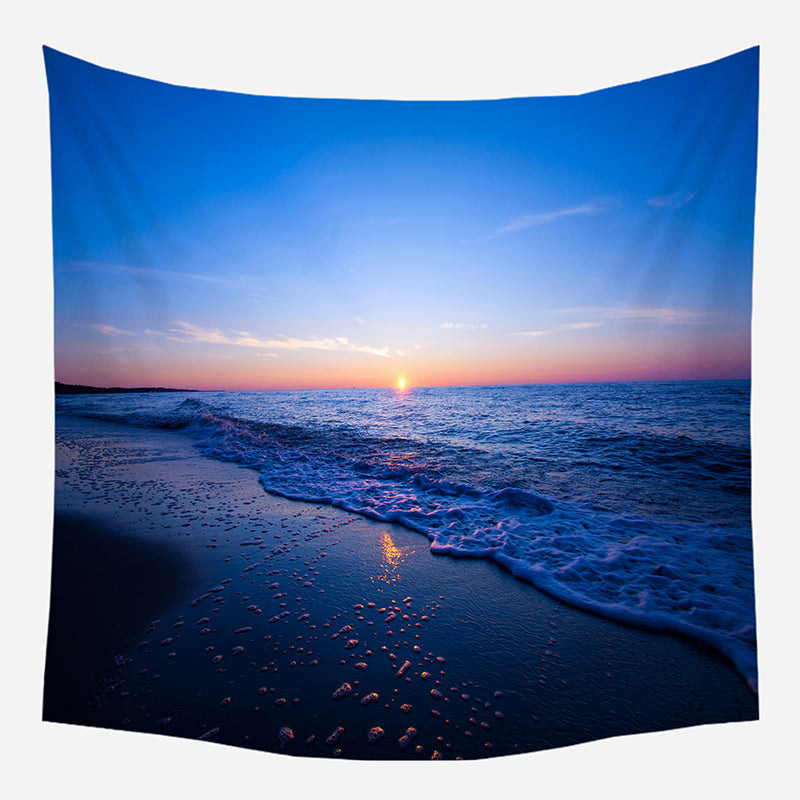 Sunset At Beach Tapestry Wall Hanging Tapis Cloth