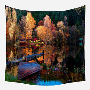 Summer Lake Tapestry Wall Hanging Tapis Cloth