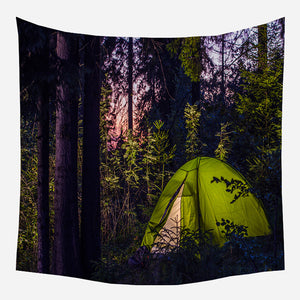 Forest Camp Tapestry Wall Hanging Tapis Cloth