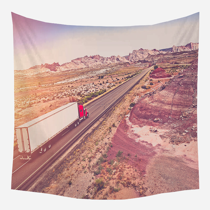 Road View Tapestry Wall Hanging Tapis Cloth