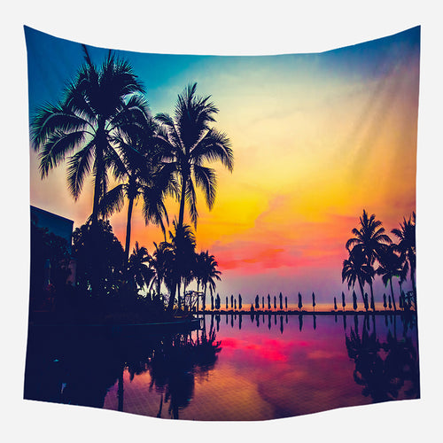 Colorful Sunset Tapestry Wall Hanging Tapis Cloth