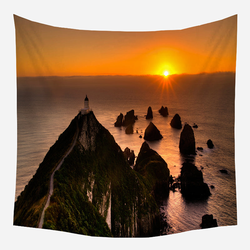 Original Mountain Sunset Tapestry Wall Hanging Tapis Cloth