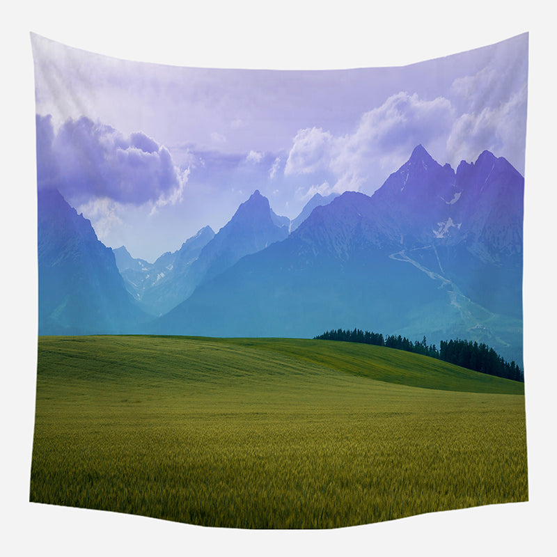 Green Pastures Tapestry Wall Hanging Tapis Cloth