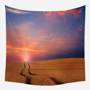 Farmland Sunset Tapestry Wall Hanging Tapis Cloth