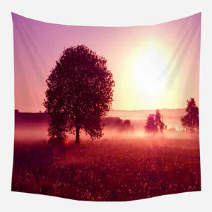 Warm Sunset Tapestry Wall Hanging Tapis Cloth