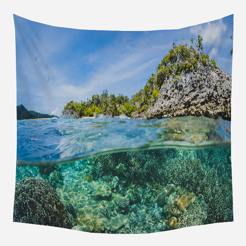 Under Sea View Tapestry Wall Hanging Tapis Cloth