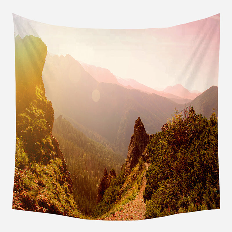 Original Morning In Mountains Tapestry Wall Hanging Tapis Cloth