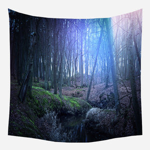 Inside Forest Tapestry Wall Hanging Tapis Cloth