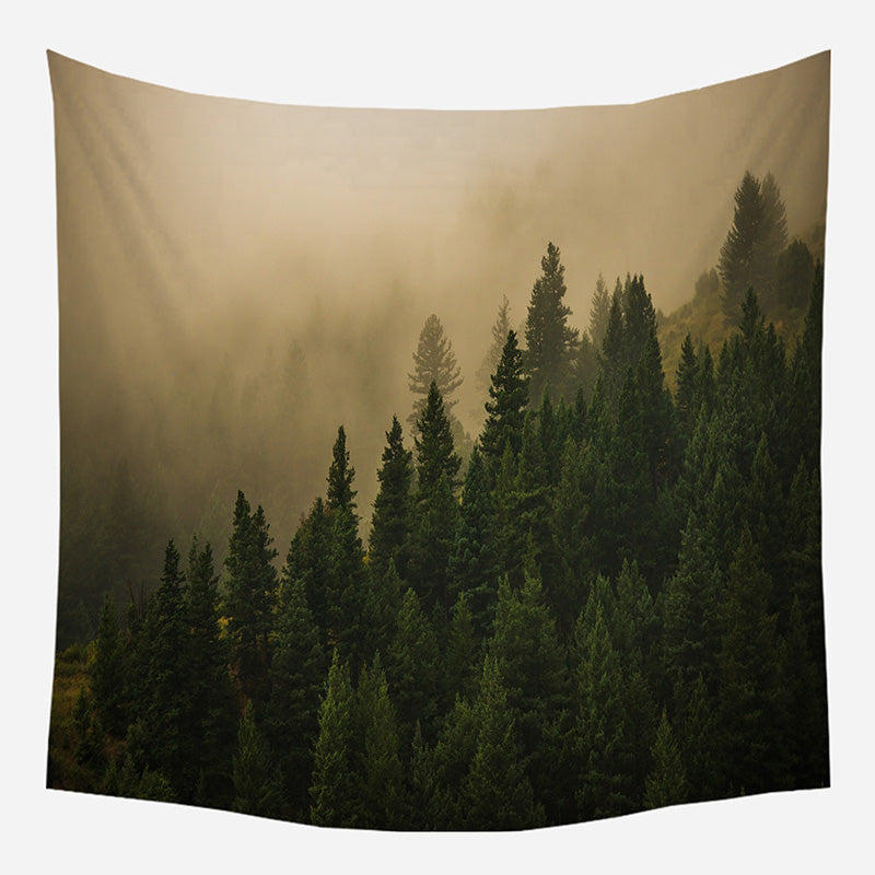 Original Morning Trees Tapestry Wall Hanging Tapis Cloth