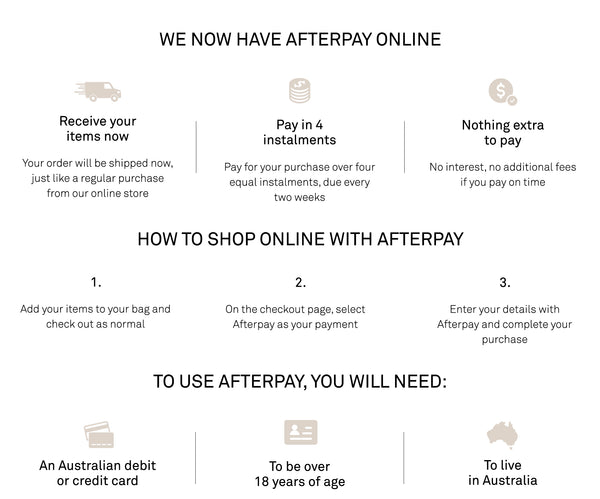 Checkout with Afterpay