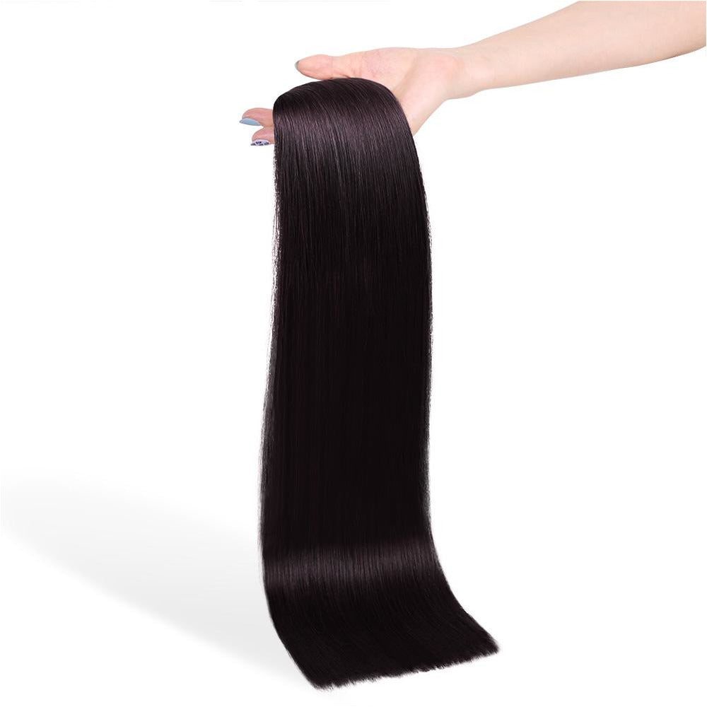 NATURAL BLACK (#1B) Human Hair Clip Ins