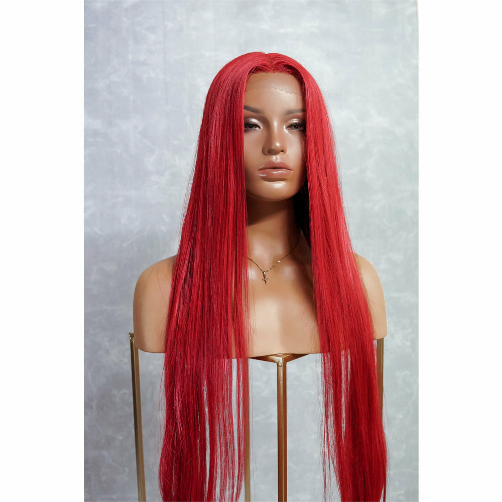 "ARIEL 30"" Red Lace Front Wig"