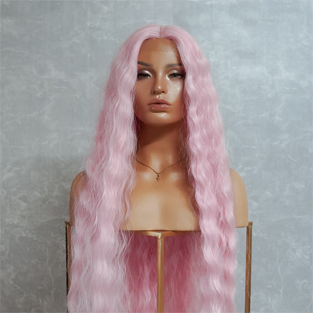 "CARDI 40"" Pink Lace Front Wig"