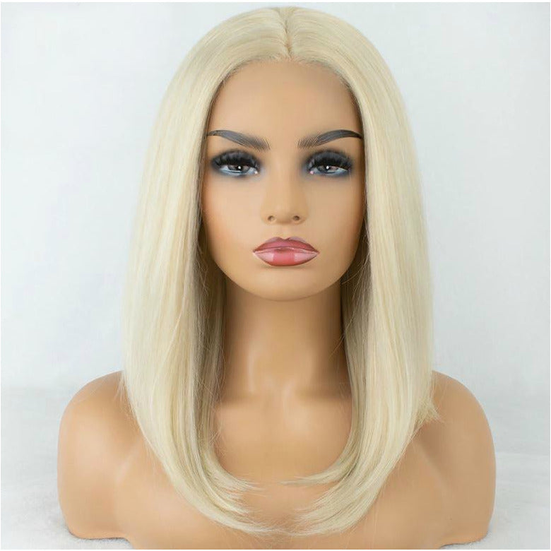 "Barbie Ting Blonde Bob 14"" Lace Front Wig"