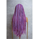 "PHOENIX Mixed Pink Braided 26"" Lace Front Wig"
