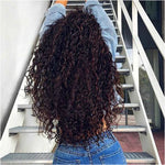 "Dark Chocolate Curly 26"" Lace Front Wig"