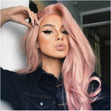 Dusty Pink Lace Front Wig