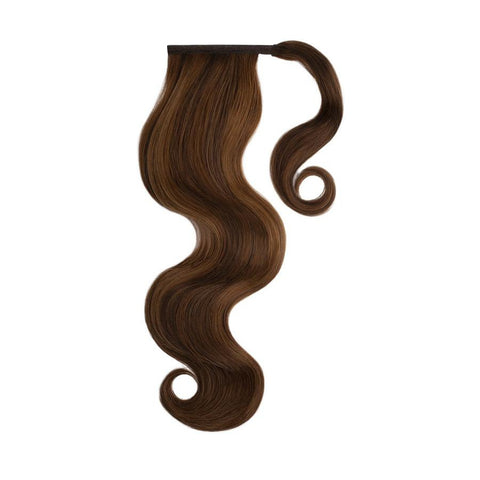 BROWN SUGAR HIGHLIGHTS Remy Human Hair Ponytail