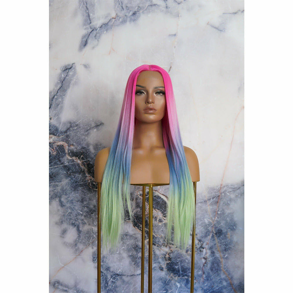 ATLANTIS Rainbow Ombre Lace Front Wig