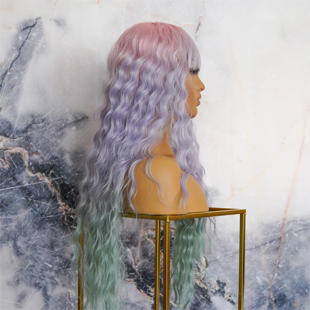 FLORA Rainbow Ombre Lace Front Wig
