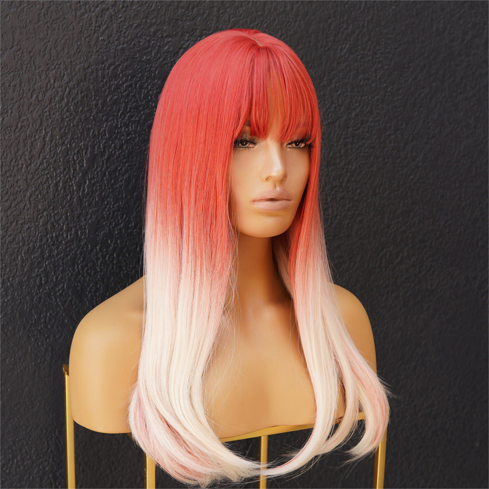 SONIC Strawberry Ombre Fringe Wig